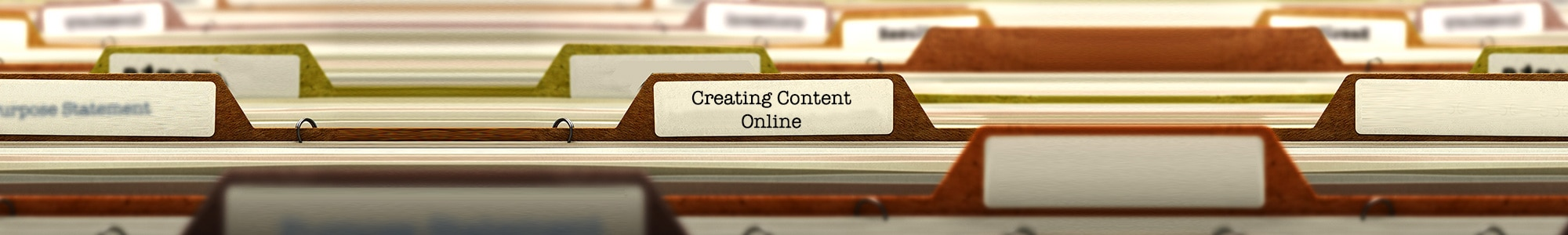 Creating content online